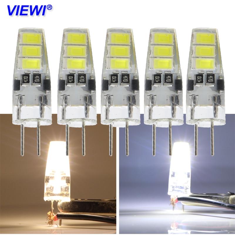 Us 5 23 Viewi 5x Ampoule Led Lamp Dc 12v G4 Mini Bulb Light 5733 6 Leds 2w Silicone Energy Saving Home Lighting Warm White 360 Degree In Led Bulbs