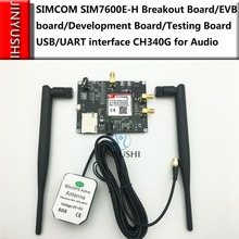 SIMCOM SIM7600E H SIM7600E SIM7600SA SIM7600A Testing kit Breakout Board/placa EVB USB/UART CH340G para Áudio LTE GPS