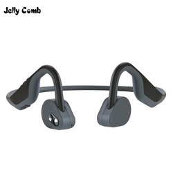Jelly Comb Bh128 Bone Conduction Earphone Bluetooth 5.0 Headset Wireless Earhook Sport Headphone Super Long Standby for iPhone