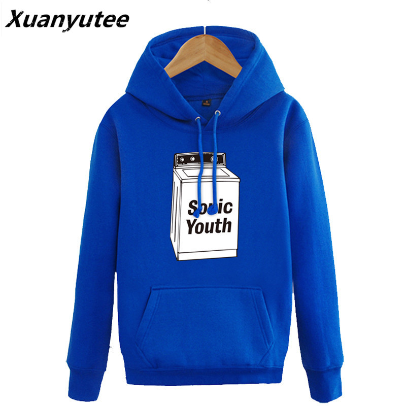 The New Fancy SONIC YOUTH Men Fashion O neck Printed Hoodie&Sweatshirt Rock Style Women Moleton 2017 Pullover Regular Tracksuit