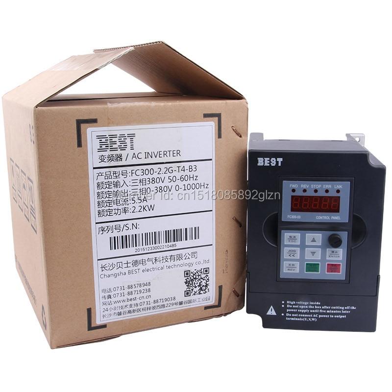 اینورتر فرکانس با کیفیت بالا VFD 2.2KW اینورتر BEST با نام تجاری اینورتر 220V