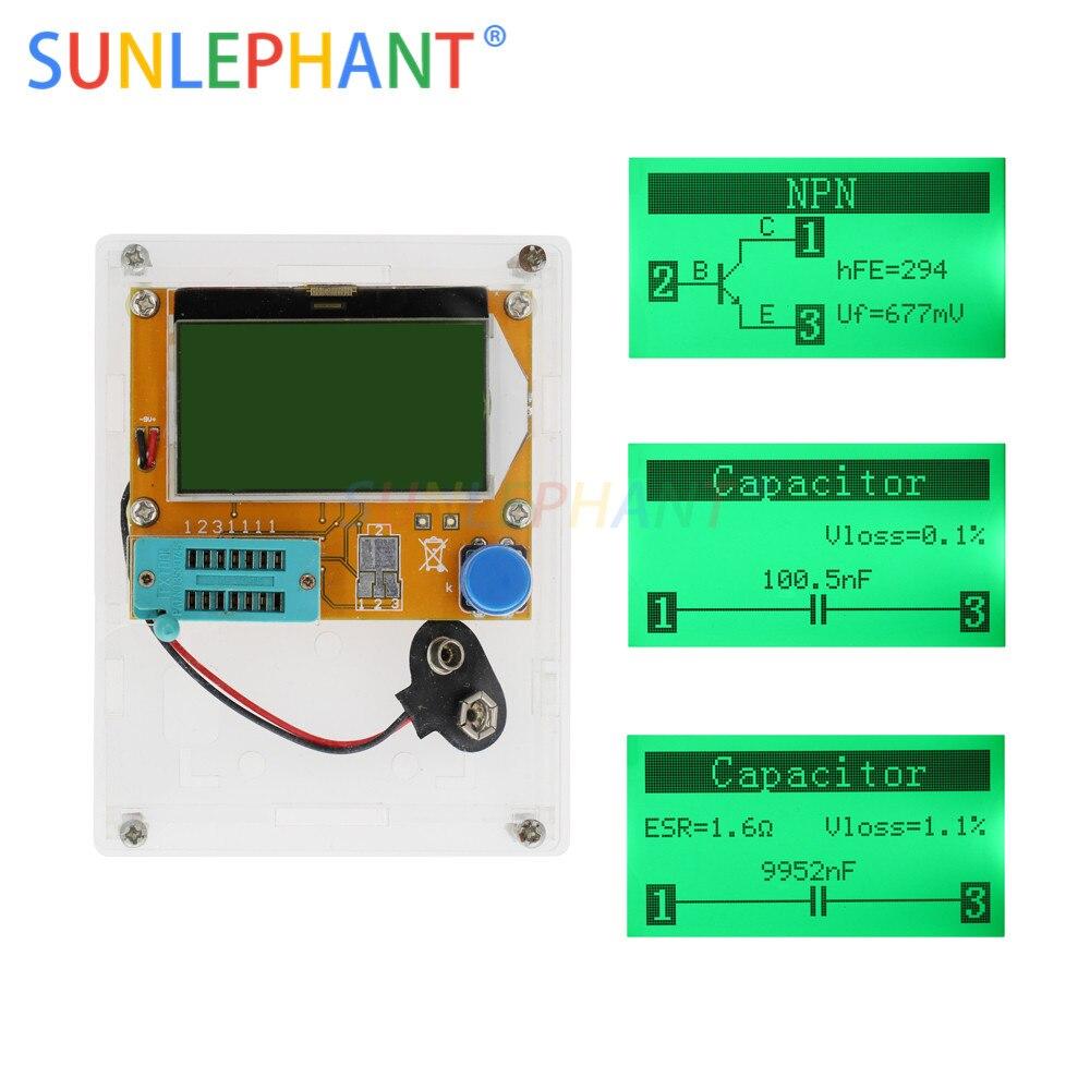 thử nghiệm bóng bán dẫn trên atmega328 - 12864 LCD- ATmega328 Transistor Tester Diode Triode Capacitance ESR METER Digital LC Meter MOS NPN case (not Battery )