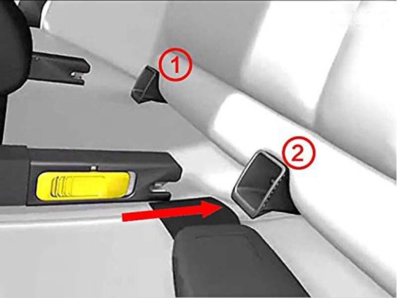2 piezas de guía de cierre negro! Asientos de seguridad para niños - Accesorios de interior de coche - foto 5