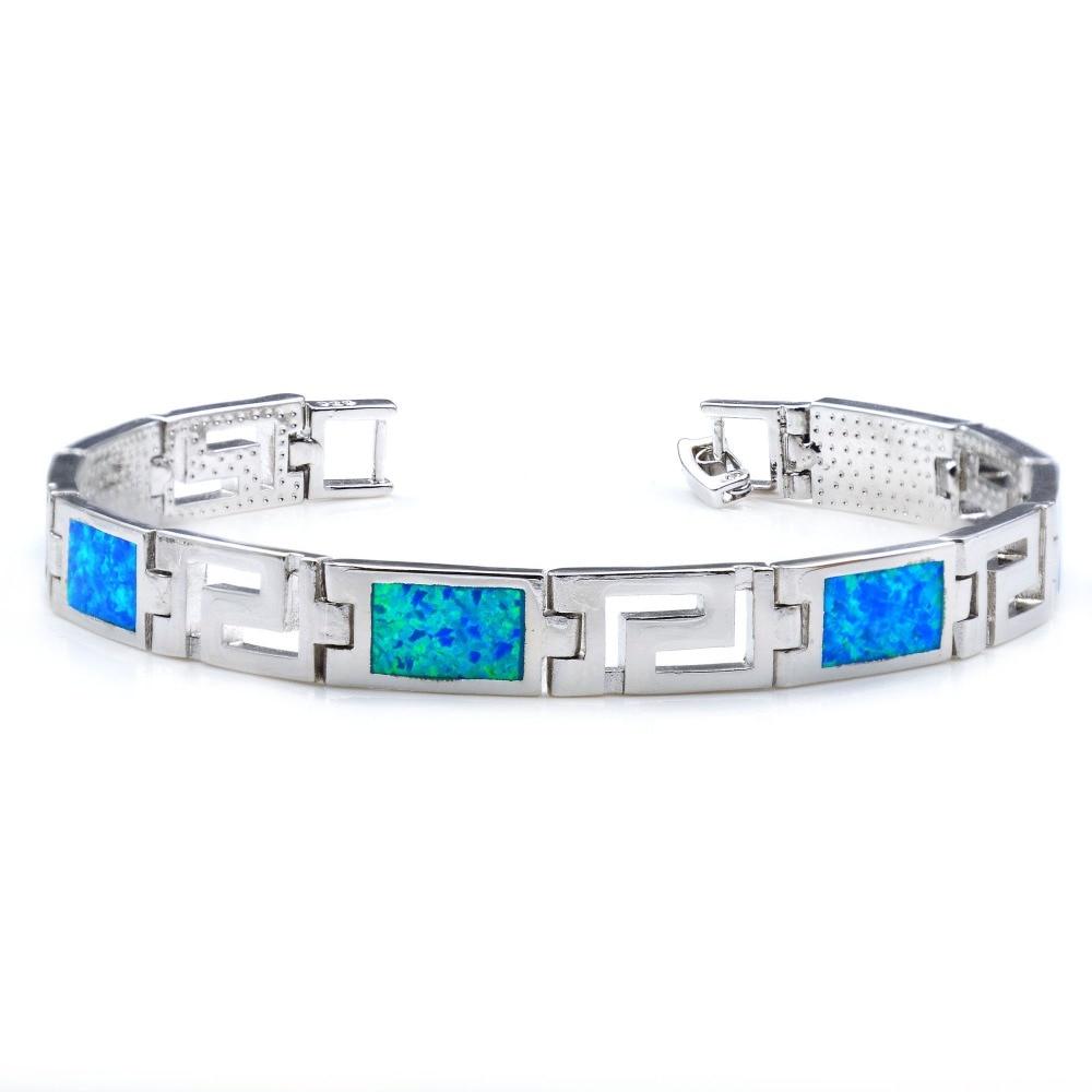 Cool Blue Fire Opal Bracelet For Men