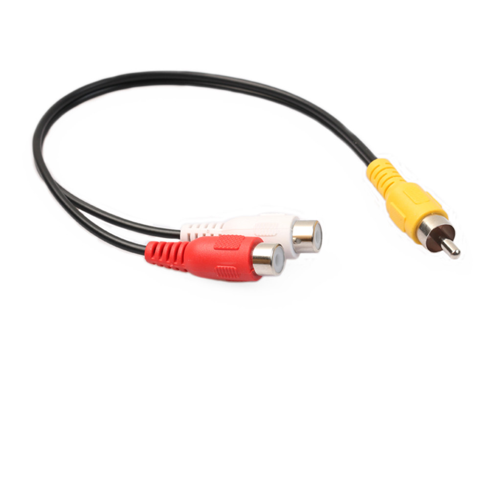 High Quality New Video Adapter Cable Rca Phono Y Splitter