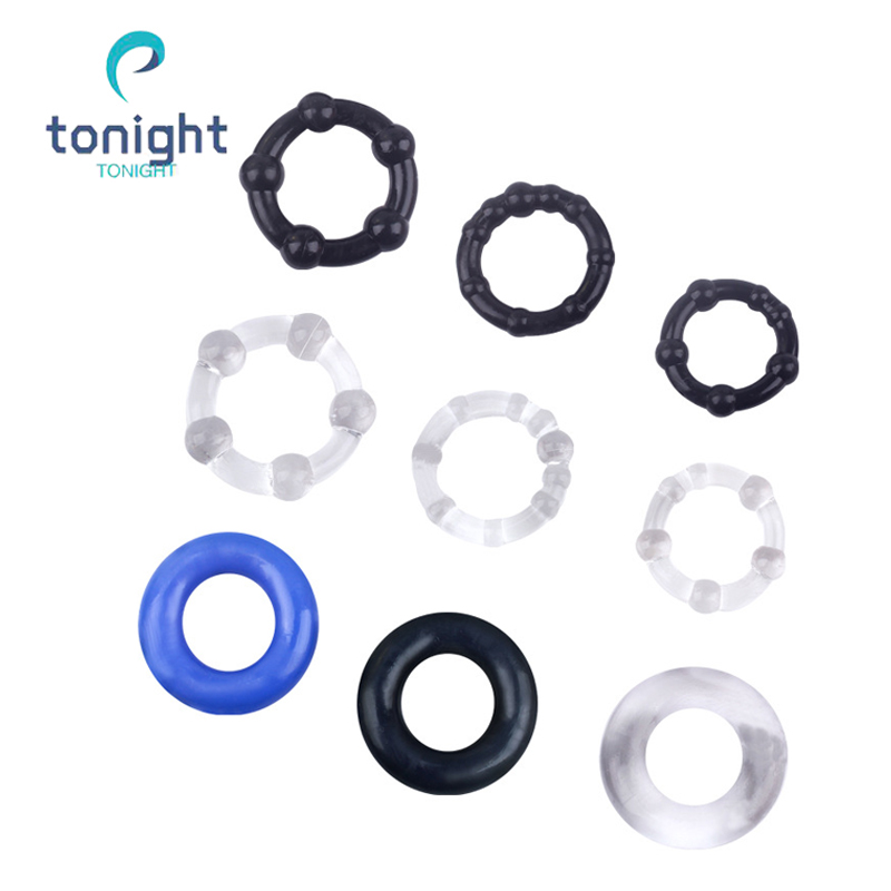 Penis Ring Soft Silicone Cock Ring On Dick 3 Pcs Penis Extender Enlargement O-Rings Sex Shop Products For Men Cockring Delay