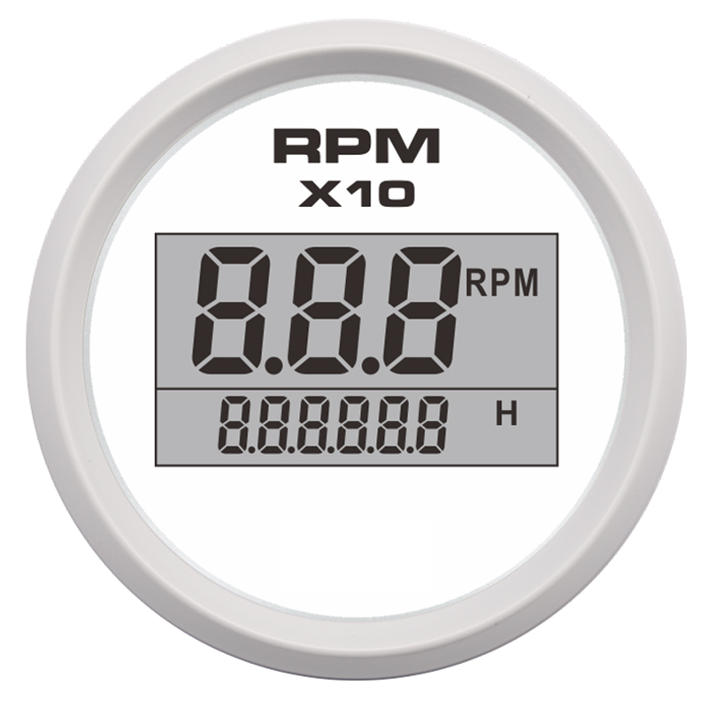 52mm Auto Tachometer Digital Waterproof Tacho Gauge Meter 0-9900 For Boat Yacht Motorcycle Car With 7 Color Led 9-32v