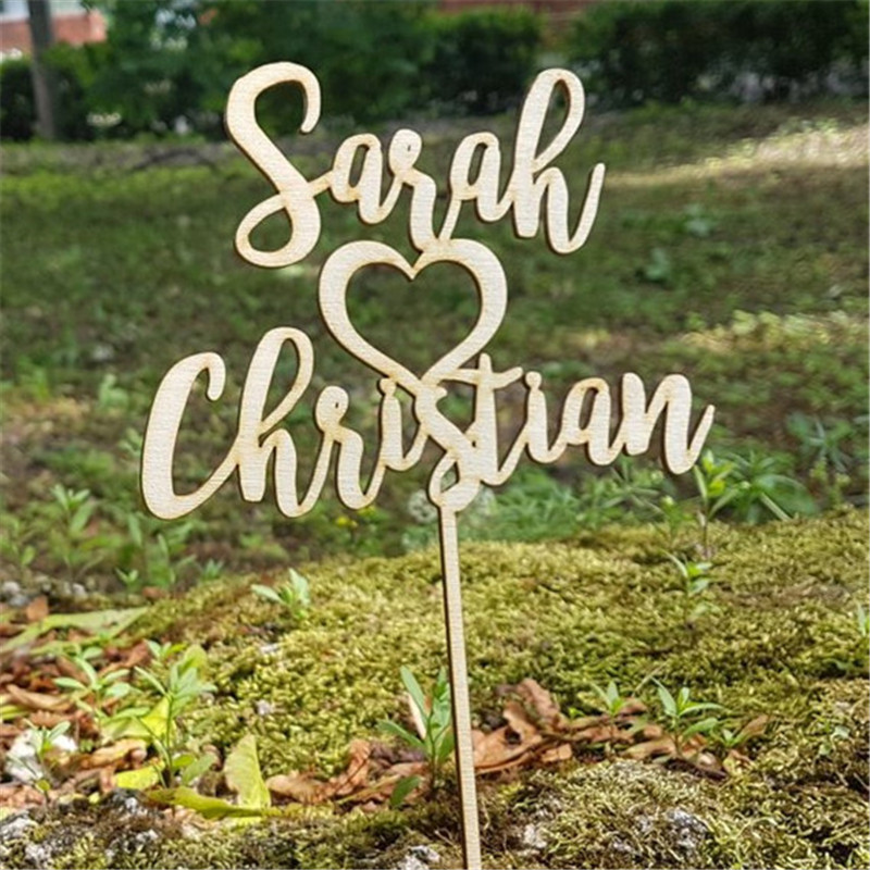 Rustic Wooden Cake Topper Personalized Couple Names Wedding Cake Decorations Engagement Mariage SuppliesRustic Wooden Cake Topper Personalized Couple Names Wedding Cake Decorations Engagement Mariage Supplies