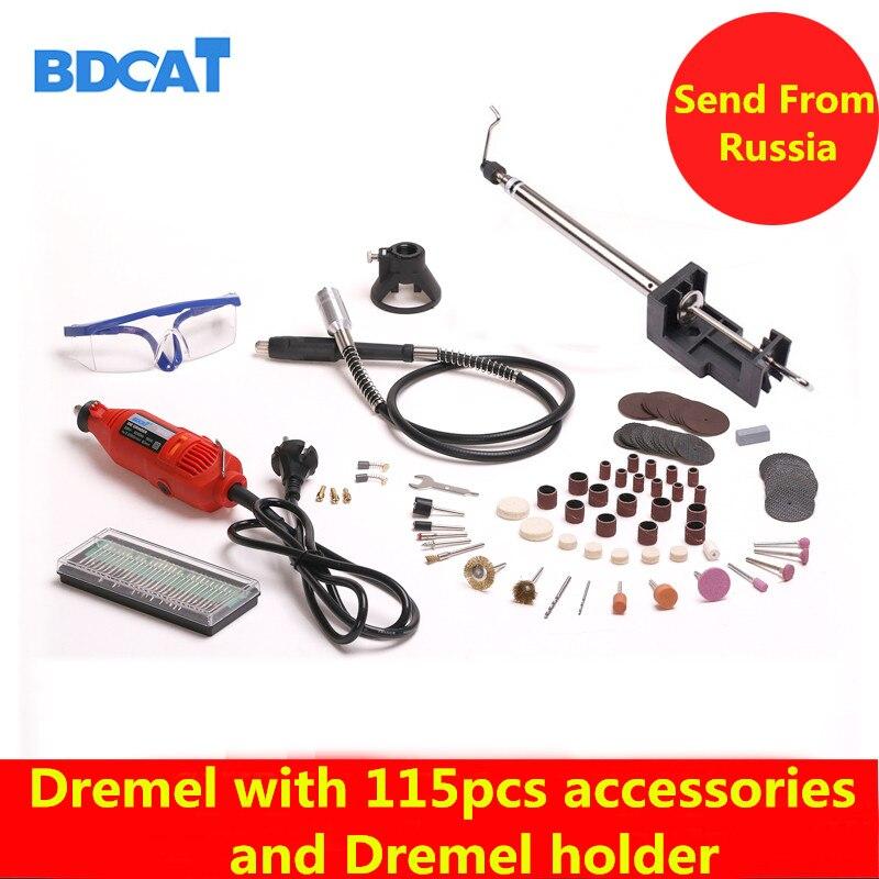 BDCAT 180 Watt Elektrische Dremel Mini Bohrer poliermaschine Drehwerkzeug mit 140 stücke Elektrowerkzeugen zubehör und dremel halter