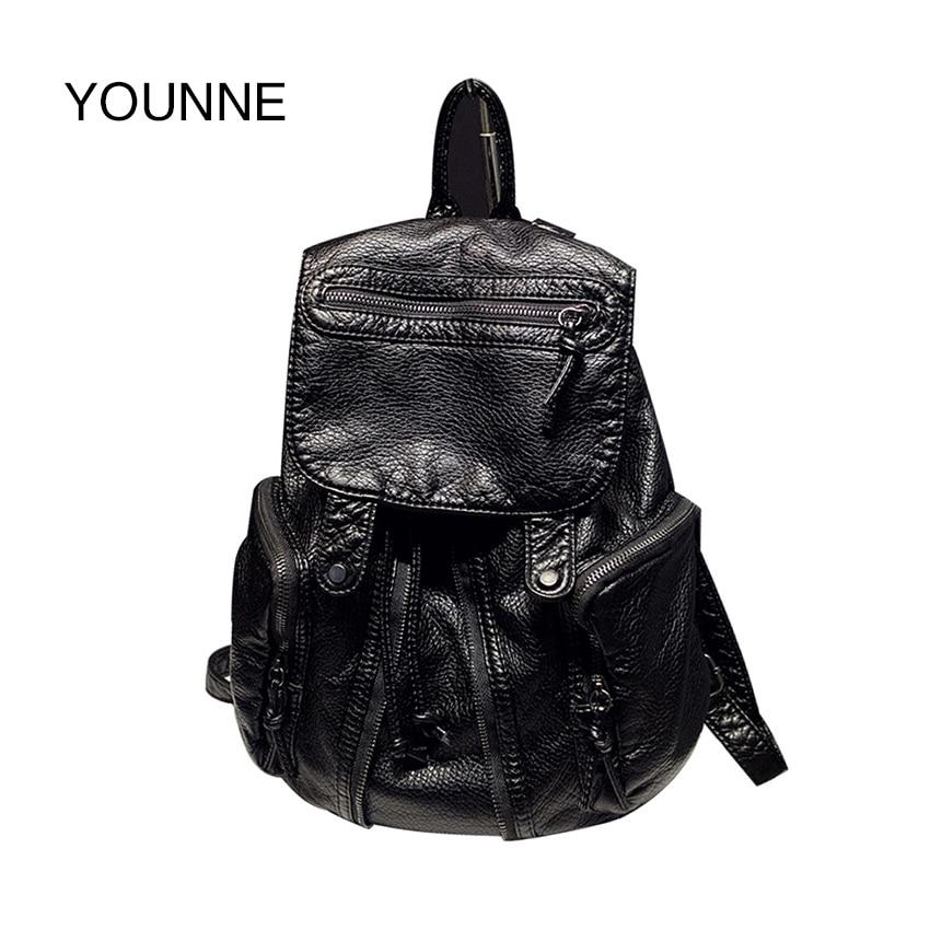 YOUNNE Rivet Backpack Women School Backpacks Bag for Teenage Girls Vintage Laptop Rucksack Bagpack Female Schoolbag Mochila