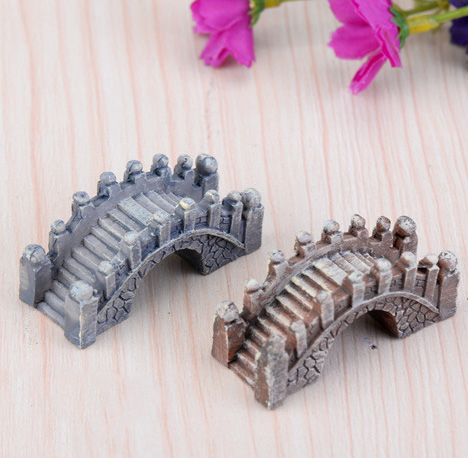 Mini Stone Bridge Building Statue Jardin Miniature Resin Craft Home Decor Miniature Fairy Garden Decoration Accessories Figurine