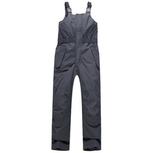 Girls Waterproof Thick Gray Ski Pants Kids Overalls Snow Bib Windproof Warmth Winter Pants