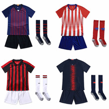 19-20 new childrens football jersey set blank board custom training suits