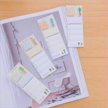 1pack/lot Kawaii Cactus Style Sticky Notes Cute Memo Paper Pad Student Index Bookmark Cute Stationery School Office Supplies