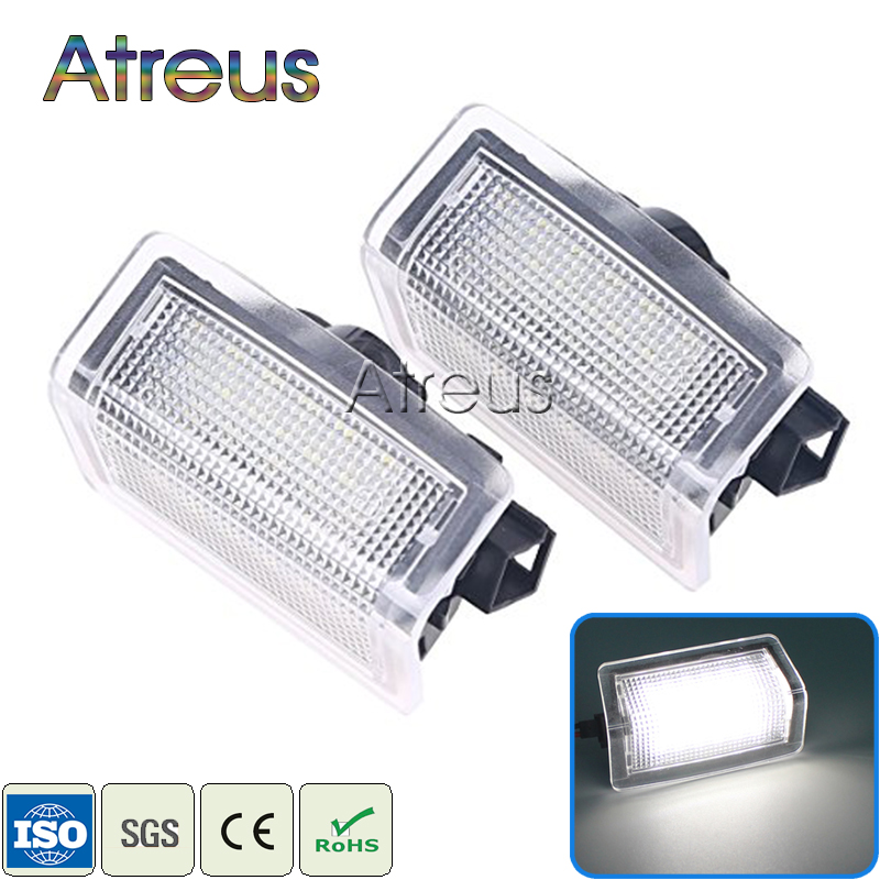 Atreus Car Door Welcome Light For Mercedes W204 W176 W246 W212 4D/5D W166 Benz E Accessories White SMD3528 LED Courtesy Lamp 12V