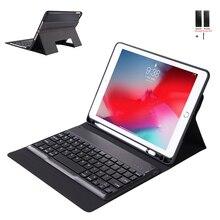 Чехол для iPad 2018 2017 9,7 WiFi Bluetooth клавиатура кожаный чехол для iPad Air 2 Air 1 ультра тонкий чехол Fundas с держателем ручки