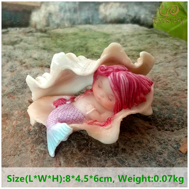 Everyday Collection Garden Fantasy Figurine Art Works Home Decor Gifts Resin Miniature Mermaid Princess Statue Fairy 4