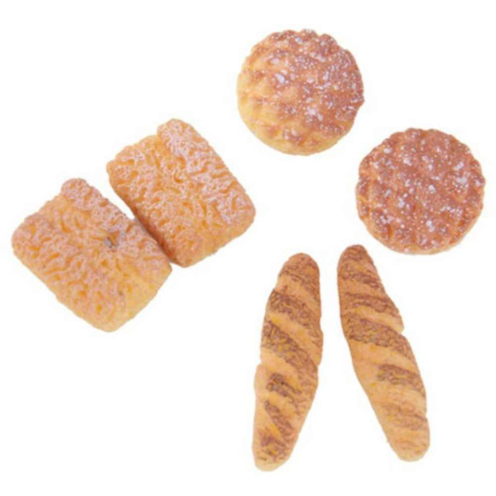 6pcs Bread for 1/12 Dollhouse Miniature Kitchen Simulation Food