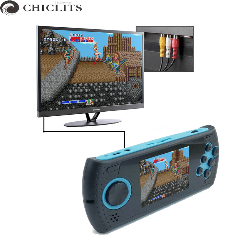 Video gpd 3 Inch 16 Bit Handheld Game Console Players Build In 100 Classic Game PVP PXP MP3 MP4 Game Player Gifts for Kids