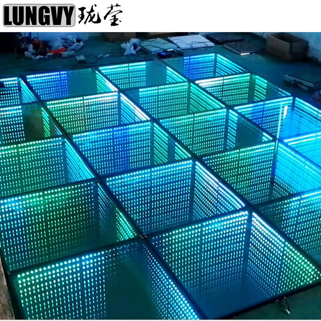1M*1M RGB Full Color Control Led Stage Light Party Disco Infinity Mirror 3D Led Dance Floor