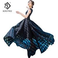 Moda Kobiety Lato Czeski Styl Suknie 2017 New Party Czarny Party Sukienki W Stylu Vintage Organza Długie Suknie Maxi D7N301A