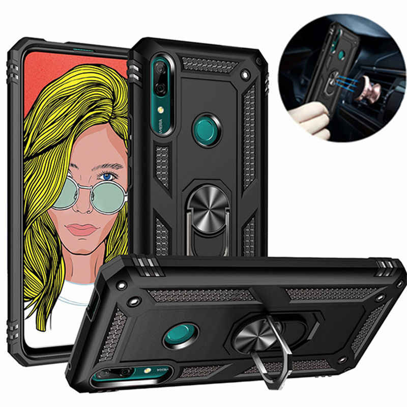 For Huawei P Smart Z Case Magnet Car Holder Ring Shockproof Case for Huawei Y5 Y6 Y7 Pro 2019 Y9 Prime 2019 honor 8S 10 Lite