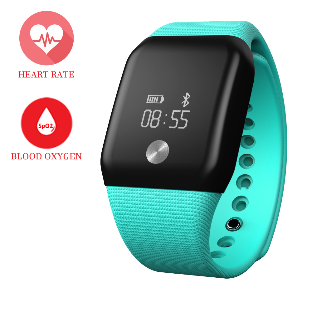 Blood Oxygen font b Smart b font Band A88 Heart Rate Bracelet Sport Activity font b