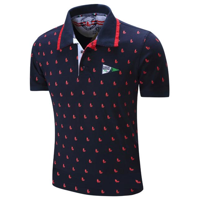 2016 Nuevos Hombres de la Marca Polo Camisa Para Hombre de Polo Sólido homme Casual manga Corta de Impresión Completa 100% Algodón Más El Tamaño