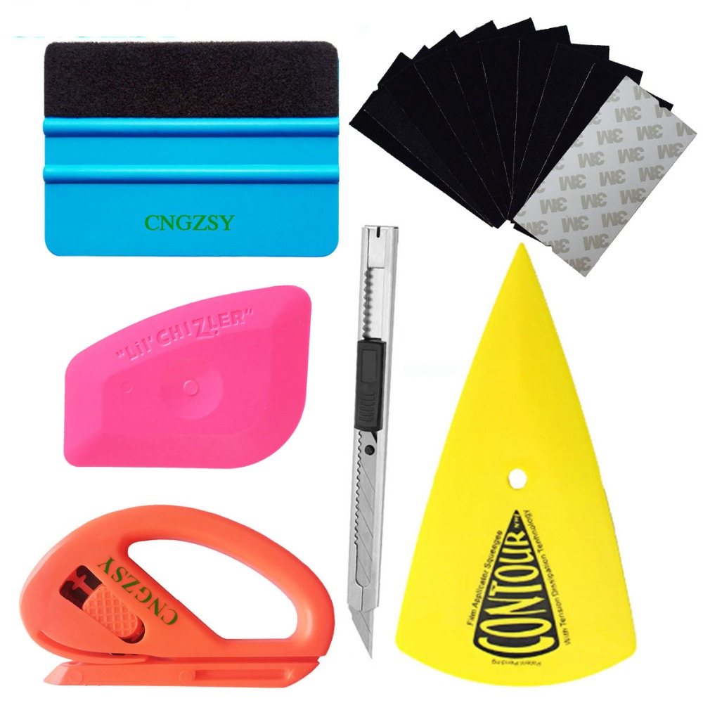 Car Vinyl Wrap Film Squeegee Foil Scraper Tools Vehicle Sticker Installation Kit Cutter Knife Car Styling Auto Accessories K23A