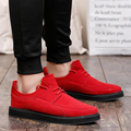 New mens Casual Shoes mens canvas shoes for men red&black 2017 fashion Flats Leather brand fashion suede Zapatos de hombre