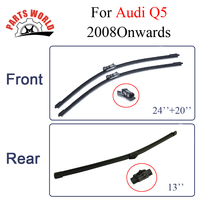 Combo Silicone Rubber Front And Rear Wiper Blades For Audi Q5 2008onwards Windscreen Wipers Car Accessories