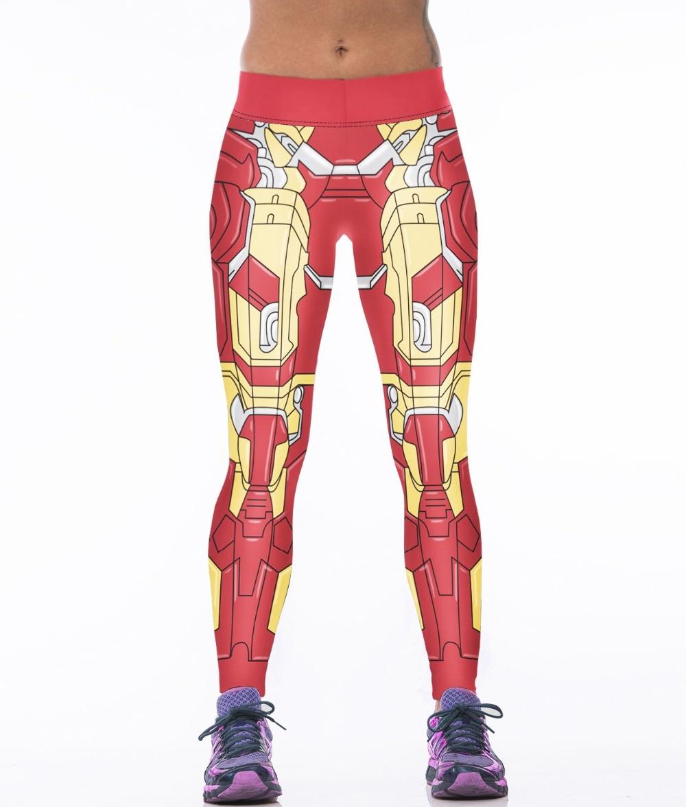 Hot Purple Grape Impresión Elástico Leggings Mujer Rojo Iron Man - Ropa deportiva y accesorios - foto 5
