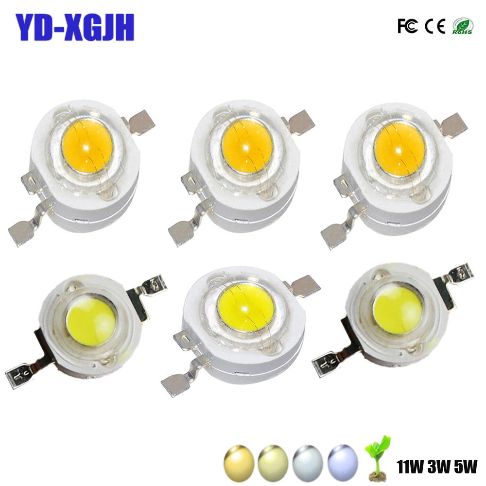 High Power LED Bulb 1W 3W 5W 30mil Warm Cold Natue White Light Lamp SMD COB 3000K 4000K 6000K 10000K Indoor Spotlight Torch DIY