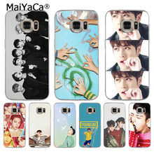 MaiYaCa Handsome boy GOT7 kpop jackson High Quality phone cover for Samsung S3 S4 S5 S6 S6edge S6plus S7 S7edge S8 S8plus(China)