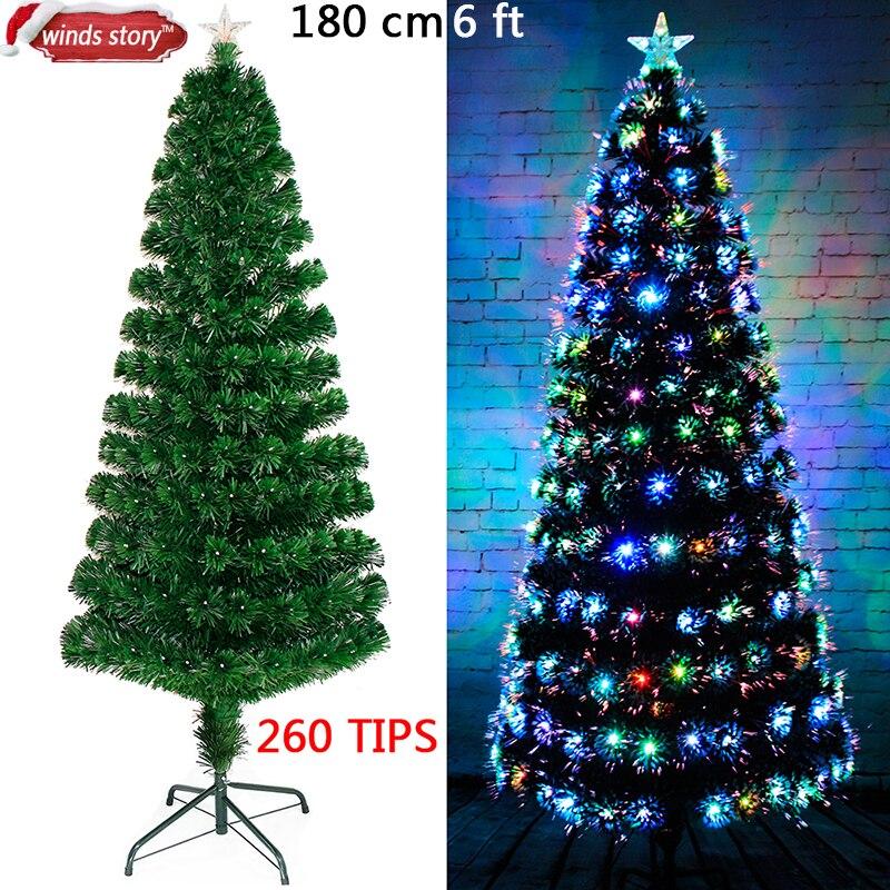 Weihnachtsschmuck 4\'/5\'/6\' glasfaser weihnachtsbaum LED Farbwechsel ...