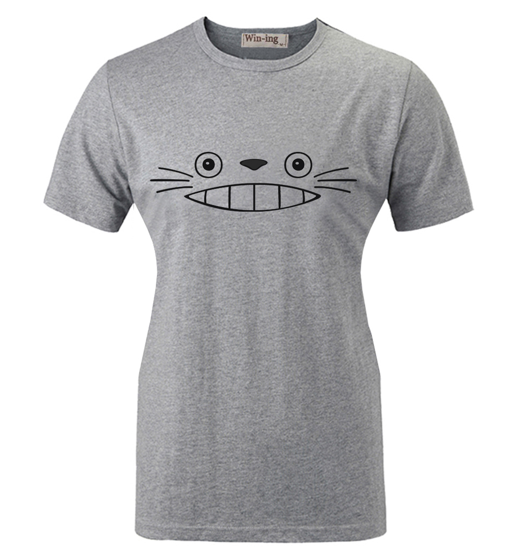 Summer Fashion Casual Cotton T shirt Cute Cartoon My Neighbor Totoro Laugh  Face Graphic Women Girl Short Sleeves T shirt Tops-in T-Shirts from Women's  ...