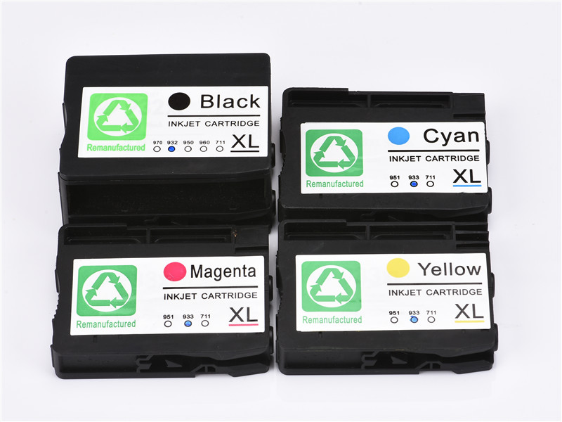 JACA Compatible for HP Original Ink Cartridge 932XL 933XL for HP OfficeJet 6600 H711a 6100 H611a 6700 H711n 7110 7610 Printer free shipping for hp 932 933 refillable ink cartridge with ink with permanent chips for hp officejet 6600 6700 ink jet printer