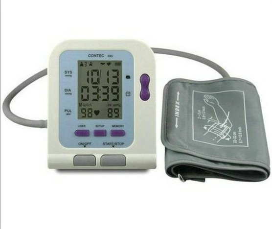 *For Child* CONTEC08C Electronic Automatic Arm NIBP Blood Pressure Monitor For Home&Hospital Child SPO2 Probe+SW abpm50 ce fda approved 24 hours patient monitor ambulatory automatic blood pressure nibp holter with usb cable