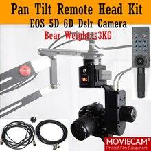 2-Axis Pan Tilt Motorizado Cabeza de Velocidad Variable Con Cable de Control Remoto de Carga 3 kg para Canon Nikon Sony DSLR Cámara Jib grúa