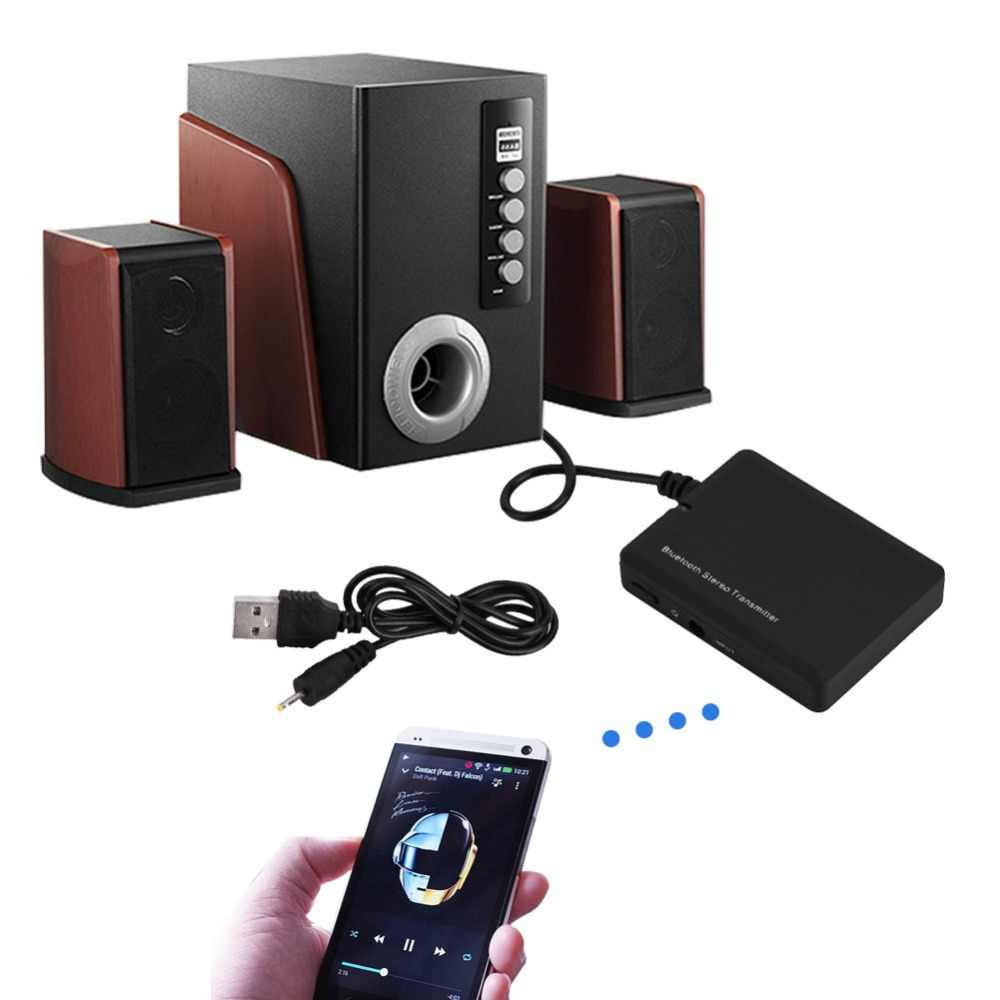 Transmisor Inalámbrico Bluetooth 3,5mm Audio estéreo transmisor de música adaptador A2DP HiFi para iPod Hi-Fi Audio PSP MP3 reproductor de TV PC