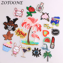 ZOTOONE Iron on Patches for Clothing Unicorn Flamingo Animal Flower Letter Punk Sequin Embroidered Patch Clothes Decoration E