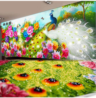 DIY 5D Diamond Embroidery Peacock Round Rhinestone Home Decor Cross Stitch Animal Patterns Handicrafts Adornment
