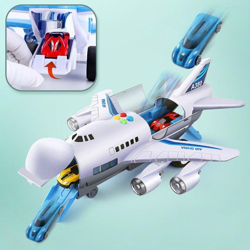 Музыкальная история, имитация трека, инерция, детская игрушка, самолет, большой размер, пассажирский самолет, детский Авиалайнер, игрушечный автомобиль, бесплатный подарок, карта