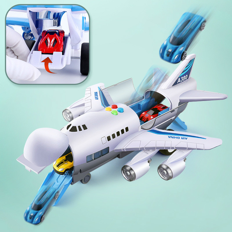 2019 Music Story Simulation Track Inertia Children s Toy Aircraft Large Size Passenger Plane Kids Airliner