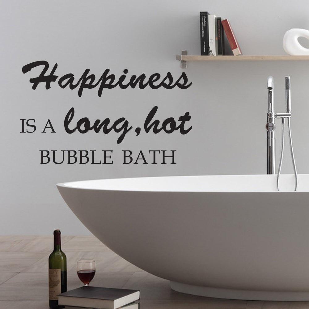 Aliexpress.com : Buy Happiness is a long hot bubble bath Bathroom ...