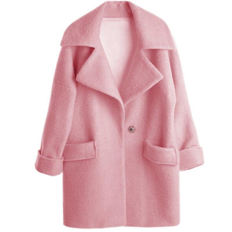 Abrigo rosa de lana
