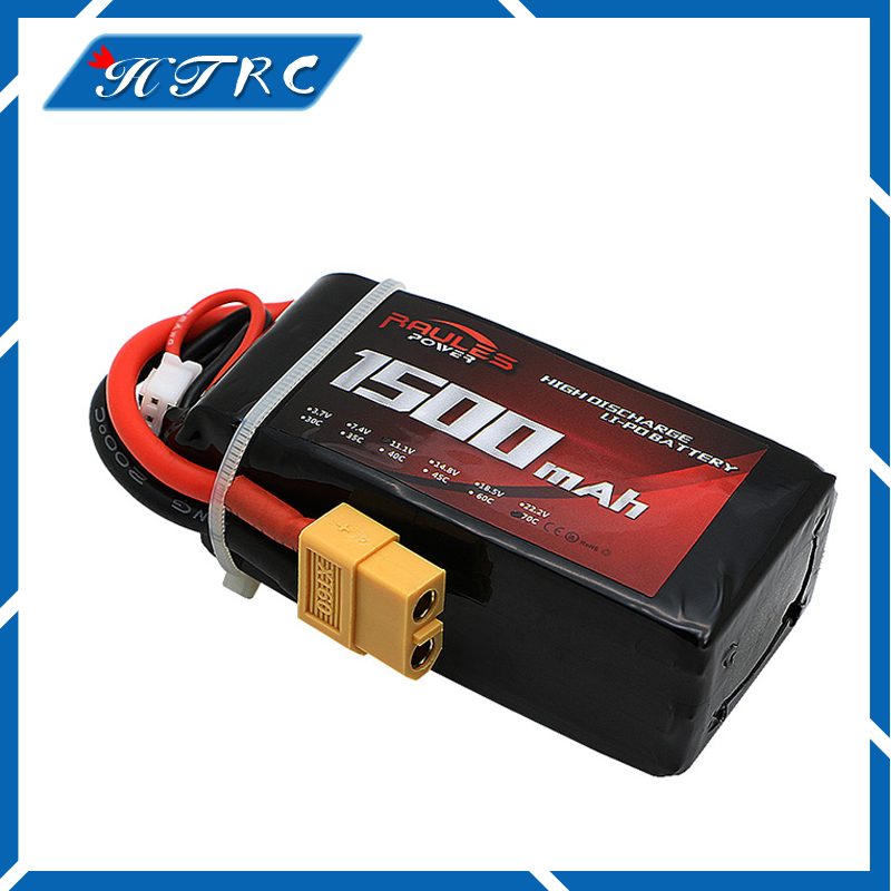 Newest Lithium Polymer Power Lipo Battery 11.1V 1500mAh 3S 70C XT60 Plug For RC Helicopter Car Truck Hobby Drone Parts Bateria 381725 polymer lithium battery 3 7v cel 110mp3 battery bluetooth battery lithium battery
