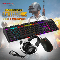 HyperX Professional Game Equipment Pulsefire FPS Mars RGB Mechanical Gaming Keyboard Cloud Headset Cost Effective