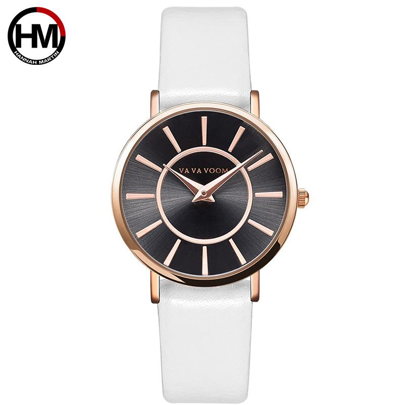 Hannah Martin Simple Leather Watch Women Fashion Ladies Watches Sun Pattern Wristwatch Luxury Style Clock For Girls Hot Sale цена и фото