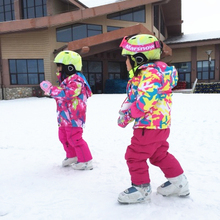 Large Small Snow Boy Girl Snowboard Children Ski Suit Set Outdoor Skiing Clothing Warm winter Costume